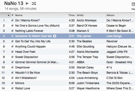 nano playlist 2013