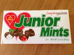 heart shaped junior mints