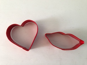 heart lips cookie cutters
